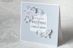 Gray Elegance Exclusive Hand Made Luxury Wedding Invitation in Gray and White on Etsy, €16.15