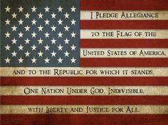I pledge allegiance.
