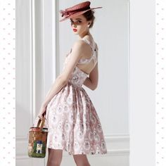 Vintage Style Summer dress Customized & Personal designed cute 60' style. The only one in this worldBackless. Size 4. Worn once or twice only. Customized Dresses