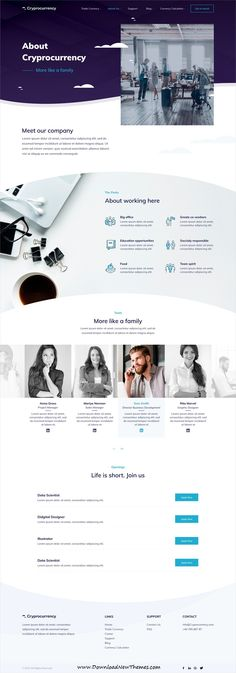 CryptoCurrency is clean and modern design PSD #template for #crypto currency and digital #currency trading company #website with 24 layered PSD files to live preview & download click on image or Visit