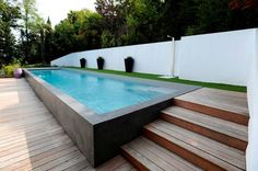 Popular Above Ground Pool Deck Ideas. This is just for you who has a Above Ground Pool in the house. Having a Above Ground Pool in a house is a great idea. Tag: a budget small yards Small Backyard Pools, Backyard Pool Designs, Small Pools, Swimming Pools Backyard, Pool Spa, Swimming Pool Designs, Pool Landscaping, Outdoor Pool, Backyard Ideas