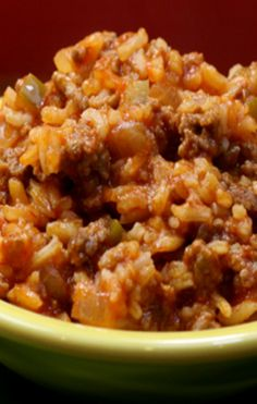 Spanish Style Rice with Ground Beef