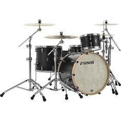 Sonor Sonor sQ1 3-Piece Shell Pack with 22 in. Bass Drum GT Black