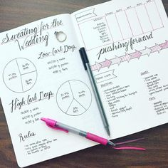 Starting working with a trainer to get fit for my wedding and had to track it all in my bullet journal, of course!  Here's my spread for my fitness goals so that I can see them every day until my wedding day in December!