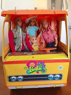 Barbie's Country Camper, 1970's like how a liddle kiddle is Barbie's baby here. That's exactly what I did lol