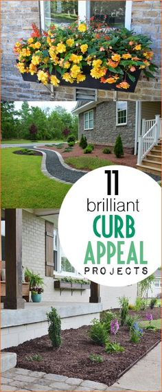 Top Curb Appeal Landscaping Improvements. Gorgeous DIY projects to make your home stand out. Projects that will update the appearance of you home. Simple home designs to renovate your home.