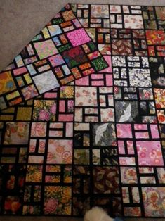 Instructions I converted this pattern to a quilt as you go. It made it reversable, also made it a lot easier to quilt as you only had to quilt one block at a time, It gave the user two quilts in one. One side is Asian fabrics and the other side is bright funky retro fabrics
