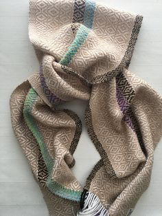 Handwoven scarf gold by PrairieWestHW on Etsy