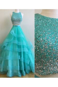 Two Pieces Sequin Long Prom Gown, Beading Prom Dress. Two Piece Prom Dress, Green Evening Dress, Senior Prom Dress, Prom Dress for Teens Senior Prom Dresses, Sequin Prom Dresses, Prom Dresses For Teens, Long Prom Gowns, Beaded Prom Dress, A Line Prom Dresses, Cheap Prom Dresses, Nice Dresses, Formal Dresses