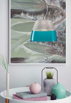 Φωτιστικό κρεμαστό, μονόφωτο σε μοντέρνο στυλ, με ανάρτηση νίκελ ματ και καπέλο γυάλινο δίχρωμο καμπάνα.Dual από την Viokef, σε χειροποίητο decor.  Διατίθεται σε λευκό με μπλε, μπλε με σομόν και γκρι με τιρκουάζ.----------------- Pendant light, in modern style, with nickel-plated brass and two-color glass hat. Its decor is hand-crafted. Available in white with blue, salmon blue and turquoise gray. #handmade #handcrafted #colorful #pendantlight #pendantlamp #modern #modernstyle… Lamp, Decor, Home Decor, Lighting