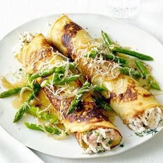 Chicken and Asparagus Crepes I will modify to have less sodium and fat :))