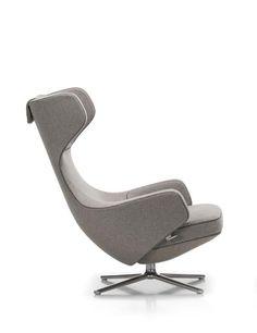 Contemporary armchair / leather / wing / by Antonio Citterio - GRAND REPOS - vitra USA - Videos