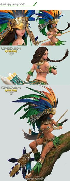 Civilization Online Ancient history Ancient history civilization online, chinese civilization, an Character Modeling, Game Character, Character Concept, Concept Art, Zbrush, Fantasy Characters, Female Characters, Cherokees, Aztec Warrior