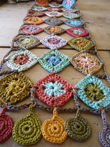 Lovely crocheted table runner? love it!! may have to make it!!!!