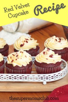 Super Moist Red Velvet Cupcake Recipe - The Super Moms Club Red Velvet Cupcakes, Mini Cupcakes, Cupcake Recipes, Baking Recipes, Cream Cheese Icing, Super Mom, Yummy Food, Link, Easy