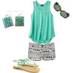 Simple green outfit, love!? Custom jewelry on snapmade.com.