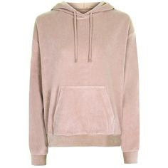 Topshop Oversized Velvet Hoodie ($37) ❤ liked on Polyvore featuring tops, hoodies, topshop, sweatshirt hoodies, hooded pullover, pocket hoodie, oversized hoodies and velvet top