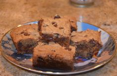 Ooey Gooey Salted Caramel Chocolate Chip Cookie Bars for a Very Special Occasion.....