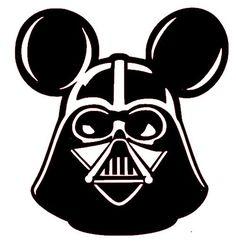Darth Vader Mickey Mouse Ears Disneyland Star Wars Walt Disney World White Vinyl Decal on Etsy, $6.00