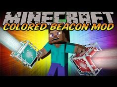 Minecraft Mod - AESTHETIC BEACON MOD! - COLORED BEACONS MOD WITHOUT BEATING THE WITHER!