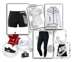 """""""workout clothes"""" by julia-lara ❤ liked on Polyvore featuring Komar and NIKE"""