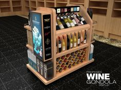 POP-3d Render using 3ds Max1 by mel laurente at Coroflot.com Pos Display, Wine Display, Display Design, Kiosk Design, Retail Design, Wooden Crates Design, Promotional Stands, Wine Stand, Retail Fixtures