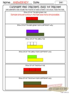 Fraction Printables: Fraction Circles, Cuisenaire Rods, and ...