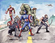 Avengers Fan Art! by MaryDoodles.deviantart.com