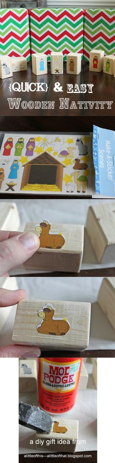 Quick & EASY Wood Nativity!