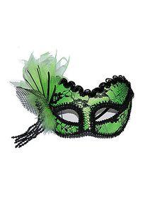 Lime Green Lace Mask - Spirithalloween.com