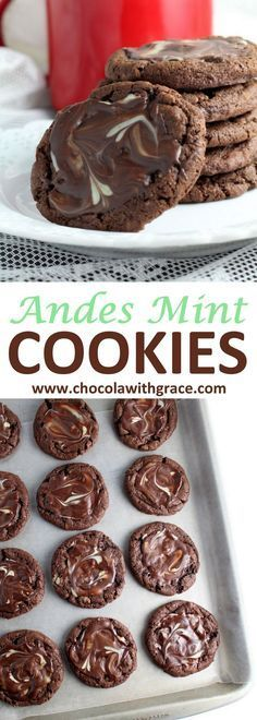 Andes Mint Cookies l easy Mint Christmas cookie recipe perfect for holiday cookie exchanges holiday baking recipes Holiday Desserts, Holiday Baking, Cookie Desserts, Just Desserts, Holiday Recipes, Delicious Desserts, Dessert Recipes, Snacks Recipes, Mint Recipes