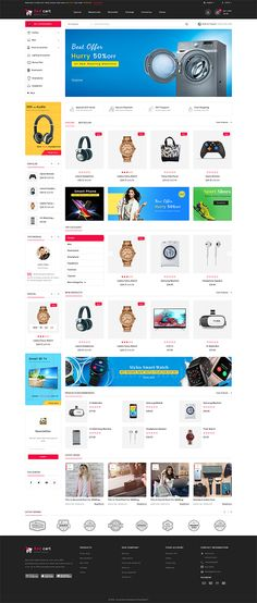 It's all about Web Templates & Themes Ecommerce Website Design, Website Design Layout, Computer Theme, News Web Design, Electronic Shop, Ecommerce Template, Ecommerce Store, Website Themes, Photoshop
