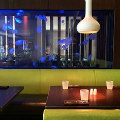 Grab a seat by the jellyfish aquarium. Jellyfish Aquarium, Steak, Miami, Lighting, Home Decor, Decoration Home, Room Decor, Steaks, Lights
