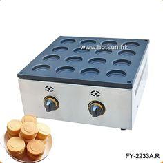 Commercial Non-stick LPG Gas 16pcs Obanyaki Maker Red Bean Waffle Maker Iron Machine #Affiliate