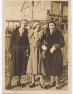 Margie(L) Gertie(M) Christina(R) taken outside Romsley Sanatorium