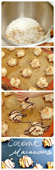 Crisp but chewy in the center, these incredibly easy coconut macaroons are a delight!