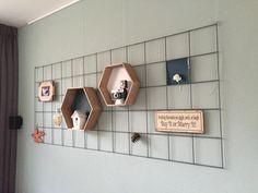 Gaaspaneel aan de muur (van de bouwmarkt, tuinafdeling)