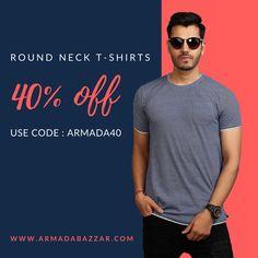 42aeb323f5 Blaze Men's T-Shirt Round Neck - Armada Bazzar