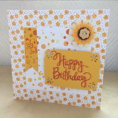 Carte pour un anniversaire fond confettis jaunes et noirs : Cartes par sab-and-paper