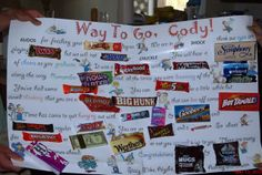 Candy bar card for graduates