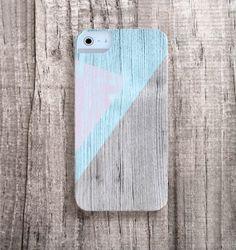 MINT iPhone Case Wood Print, iPhone 4s Case Wood Print - Color block iPhone Case, Geometric Cases, Christmas Gift Ideas, Unique iPhone Case