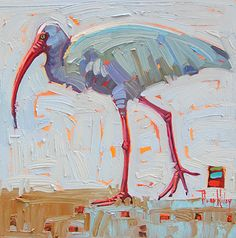 Ibis, by Rene Wiley by René Wiley Gallery Oil ~ 12 x 12