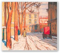 Toronto, Ontario gallery of limited or open edition prints and originals. Landscape, abstract, contemporary, figurative or floral. One of the largest collections of Tom Thomson and the Group of Seven prints in Canada. Tom Thomson, Canadian Painters, Canadian Artists, Group Of Seven Artists, Group Of Seven Paintings, Emily Carr, Toronto Street, Art Toronto, Winter Painting