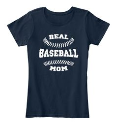 Baseball Mom Shirts 168 New Navy T-Shirt Front