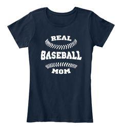 Baseball Mom Shirts 168 New Navy T-Shirt Front