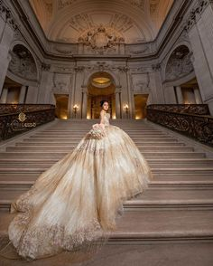 Get the beautiful Golden Shimmer Quinceañera Dress By Ragazza and other amazing Ragazza quinceanera dresses on Mi Padrino. Quince Dresses, 15 Dresses, Ball Dresses, Wedding Dresses, Royal Dresses, Ball Gowns Fantasy, Fantasy Dress, Queen Aesthetic, Princess Aesthetic