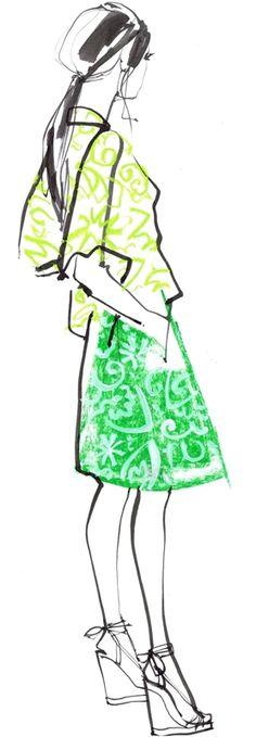 Fashion Illustrators Jacqueline Bissett