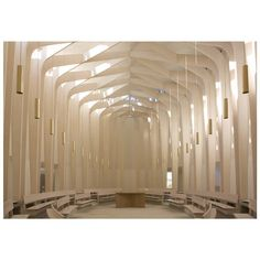 Sacred Spaces: the nave of the Bishop Edward King Chapel near Oxford, designed by studio Niall McLaughlin in 2013.  Photo: Denis Gilbert