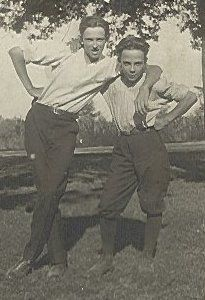 Earl Sparks with his cousin, Clarence Martin. Date Taken: 1920
