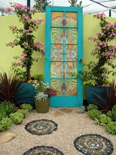 I have a door like this waiting to be painted. What a pretty idea!! Doubt I'll dedicate that much time to it, though.